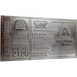 Nostromo Ticket (silver plated) Replica Limited Edition
