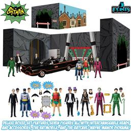 Batman (1966) Action Figures Deluxe Box Set 9 cm