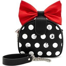 Minnie Polka Big Red Bow Crossbody by Loungefly