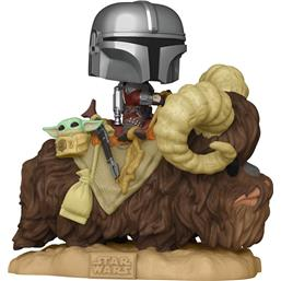 The Mandalorian on Bantha with Child in Bag POP! Deluxe Vinyl Figur