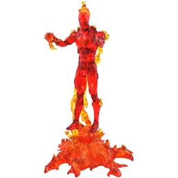 Human Torch Marvel Select Action Figur 18 cm