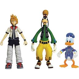 Kingdom Hearts: Roxias, Donald Duck, Goofy Action Figurer 18 cm