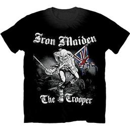 Iron Maiden Trooper T-Shirt (Sort/Hvid)