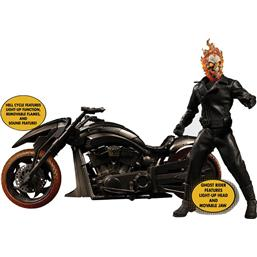 Ghost Rider Action Figure on Hell Cycle with Sound & Light Up 1/12