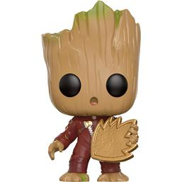 Guardians of the Galaxy: Young Groot med Skjold POP! Vinyl Bobble-Head (#208)