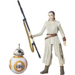 Rey (Jakku) og BB-8 Black Series Action Figur