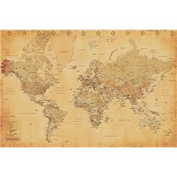 World Map - Vintage Style plakat