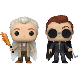 Aziraphel & Crowley w/Wings POP! TV Vinyl Figursæt 2-Pak Specialty Series