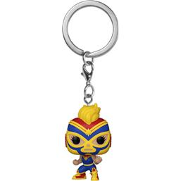 Captain Marvel Marvel Luchadores Pocket POP! Vinyl Nøglering