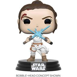 Rey w/ 2 Light Sabers POP! Movies Vinyl Figur