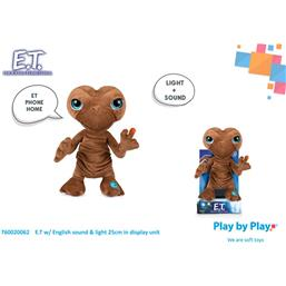 the Extra-Terrestrial Plush Figure with Sound & Light E.T. 25 cm *English Version*