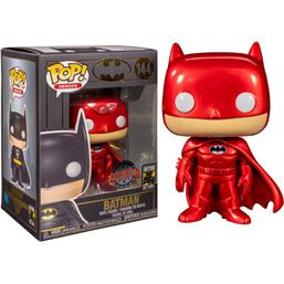 Batman Red Metallic Exclusive POP! Heroes Vinyl Figur (#144)