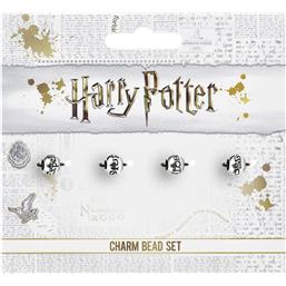 Harry Potter: Charms Beads 4-Pack Spells (sølv belagt)