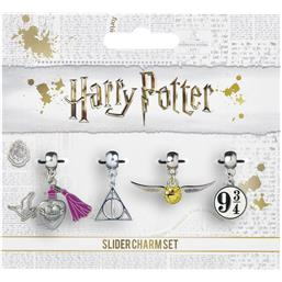 Harry Potter Sølv belagt Charms 4-Pak