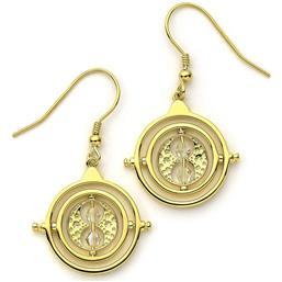 Harry Potter: Time Turner Drop Earrings Guld Belagt Med Swarovski