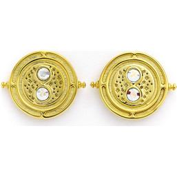 Harry Potter: Time Turner Earrings Guld Belagte Med Swarovski