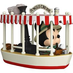 Skipper Mickey w/Boat (Jungle Cruise) POP! Rides Vinyl Figur 15 cm
