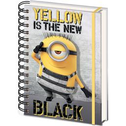 Minions Yellow Is The New Black Notesbog