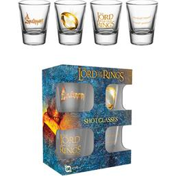 Lord Of The Rings: Lord of the Rings Shotglas 4-Pak