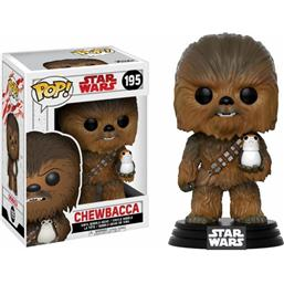 Star Wars: Chewbacca med Porg POP! Bobble-Head (#195)