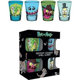 Rick and Morty Shotglas (Farvede)