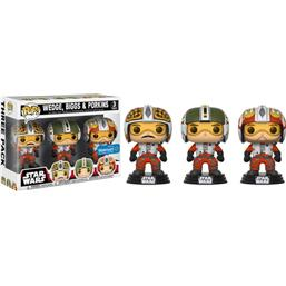 Wedge, Biggs & Porkins POP! Vinyl Figur 3-Pak