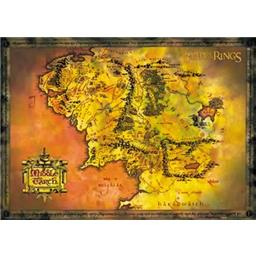 Lord Of The Rings: Middle Earth Map plakat