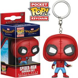 Spider-Man: Spider-Man (Homemade Suit) Pocket POP! Vinyl Nøglering