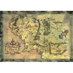 Middle Earth Map plakat