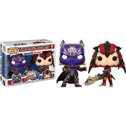 Marvel vs. Capcom: Black Panther vs Monster Hunter POP! Games Vinyl Figur 2-Pak