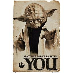 Yoda - May The Force Be With You plakat