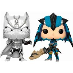 Black Panther vs Monster Hunter POP! Games Vinyl Figur 2-Pak Exclusive