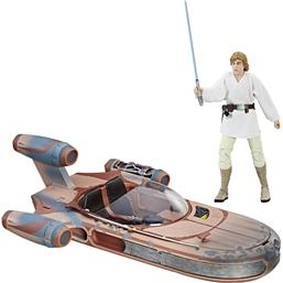 Luke Skywalker Black Series Action Figur med  X-34 Landspeeder