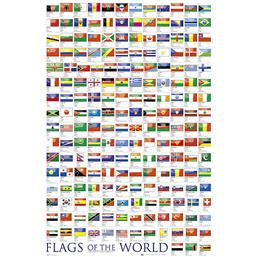 Byer og Bygninger: Flags Of The World plakat