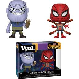 Thanos & Iron Spider VYNL Vinyl Figurer 10 cm