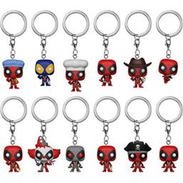 Deadpool Pocket POP! Nøglering 12 Pak
