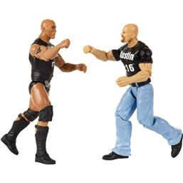 WWE: Tough Talkers Stone Cold Steve Austin og The Rock - Talende Action Figur 2-Pak
