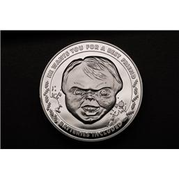 Child's Play: Child's Play Collectable Coin 25th Anniversary Chucky (silver plated)