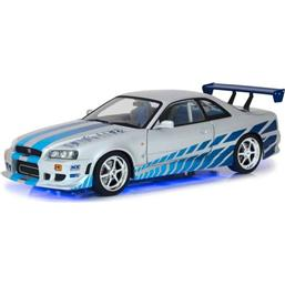 Fast & Furious: Fast & Furious Diecast Model 1/18 1999 Brians Nissan Skyline GT-R34 with Light-Up Function