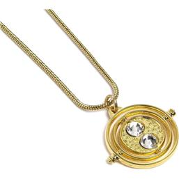 Harry Potter Pendant & Necklace Fixed Time Turner (gold plated)
