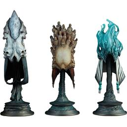 Court of the Dead: Court of the Dead Replicas 3-Pack 1/4 The Aspects of Death Mask 20 cm