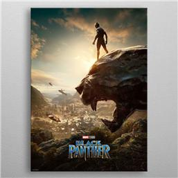 Marvel Metal Poster Black Panther Long Live The King 10 x 14 cm