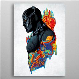 Marvel Metal Poster Black Panther King's Heritage 10 x 14 cm