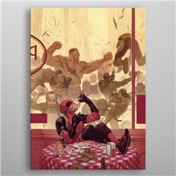 Deadpool: Marvel Metal Poster Deadpool Gritty Pizza Break 32 x 45 cm