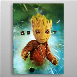 Guardians of the Galaxy: Marvel Metal Poster GOTG2 Baby Groot 32 x 45 cm