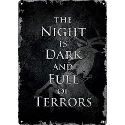 Game Of Thrones: Game of Thrones Tin Sign Night Dark 21 x 15 cm
