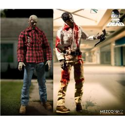 Dawn of the Dead: Dawn Of The Dead Action Figure 1/12 2-Pack Flyboy & Plaid Shirt Zombie 17 cm