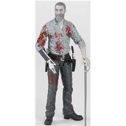 The Walking Dead Action Figure Rick (Bloody B&W) 15 cm