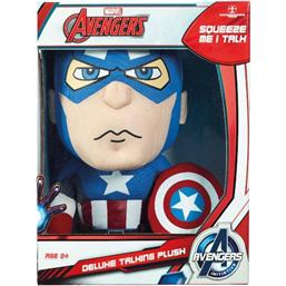 Marvel: Marvel Deluxe Talking Plush Figure Captain America 38 cm *English Version*