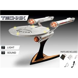 Star Trek: Star Trek Level 5 Model Kit with Sound & Light Up 1/600 USS Enterprise NCC-1701
